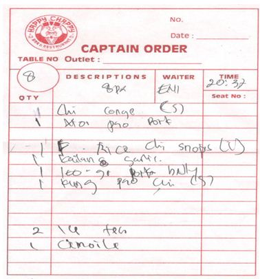 2. Captain Orders